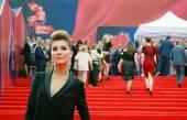 Actress Elena Podkaminskaya at Moscow Film Festival — Stock Photo