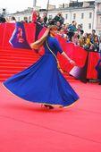 Actress Natalia Gromushkina at Moscow Film Festival — Stock Photo
