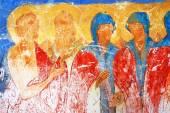 Vecchia pittura religiosa. Chiesa di Saint Nicolas a Yaroslavl, Ru — Foto Stock