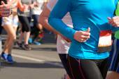 Marathon running race, runners on road, sport, fitness and healthy lifestyle concept — Stock Photo