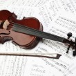 Violin bow and music sheet — Stock Photo #59708365