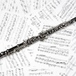 Oboe musical instruments music sheet — Stock Photo #59708373