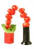 Creative tomato tree — Stock Photo