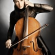 Постер, плакат: Cello player Cellist classical musician