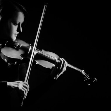 Violin player violinist playing classical music