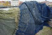 Bunten fischernetze - ozean-backround — Stockfoto