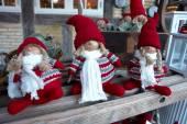 Creative Christmas dolls — Stock Photo