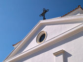Exterior of a church in Italy — Foto Stock