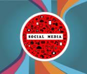 SOCIAL MEDIA TRAFFIC SIGN — Stock Vector
