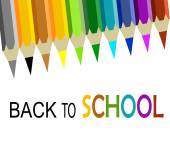 Back to school Colorful — Vecteur