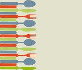 Cutlery color — Stock Vector