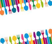 Menu with cutlery vector illustration — Stock Vector