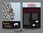 Business concept A4 brochure — Stock Photo
