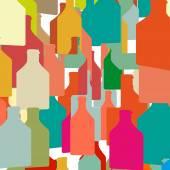 Wine bottles and glasses — Stock Vector
