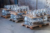 Industrial valves ready for dispatch — Stock Photo
