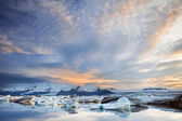 Jokulsarlon Ice Lagoon in sunset light, Iceland — Photo
