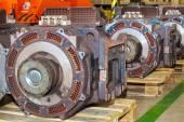 Electro actuators for maintenance of subway wagons — Stock Photo