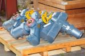 Electro actuators ready to dispatch — Stock Photo