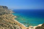 Red Beach in Matala, Crete, Greece — Foto de Stock