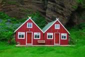 Traditional icelandic Cottage House — Stock Photo