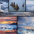 Icelandic landscapes collage — Stock Photo #73229915