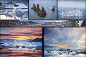 Icelandic landscapes collage — Stock Photo