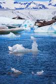 Jokulsarlon Ice Lagoon in sun light, Iceland — Stock Photo