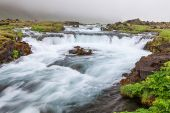 Amazing waterfall at the south side of Iceland — Stock Photo