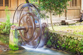 Water wheels in old town Yantou, China — Stock Photo