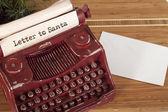 Santa Claus letter — Stock Photo