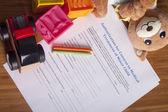 Medical Authorization of minor child — Stock Photo