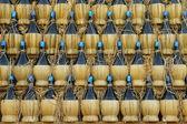 Chianti bottles — Stockfoto
