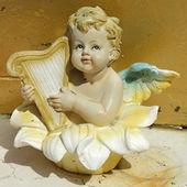 Angel playing harp — Stock Photo