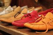Colorful moccasins style shoes — Stock Photo