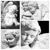 Carved angelic images — Photo