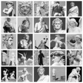 Art collage made of sculptures of Florence — Stock Photo