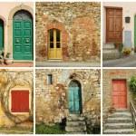 Italian doors collage — Stock Photo #54899561