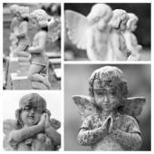 Pray angels sculptures — Stock Photo