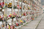 Endless cemetery wall — Stock Photo