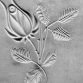Engraved  floral pattern — Stock Photo