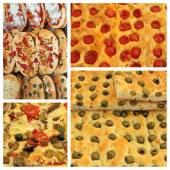 Italian pizza and focaccia mix — Stock Photo