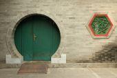 Chinese round doorway — Stock Photo