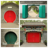Chinese traditional doorways — Stock fotografie