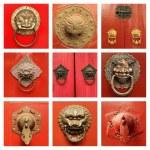 Antique chinese door knockers — Stock Photo #57169701