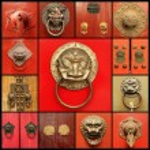 Chinese door knockers — Stock Photo #57275133