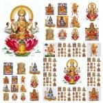 Hindu gods collage — Stock Photo #57830369