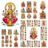 Hindu gods collage — Stock Photo