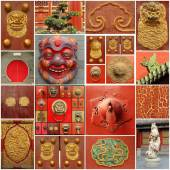 Chinese culture  collage — Stock Photo
