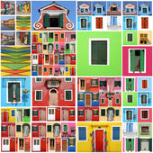 Abstract Burano house  pattern — Stock Photo