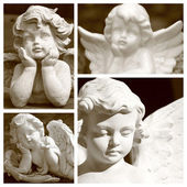 Angelic figurines in sepia color — Foto de Stock